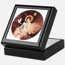 J-ORN-Angel1-Westie-P Keepsake Box