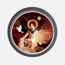 J-ORN-Angel1-Golden-B1 Wall Clock