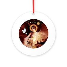 J-ORN-Angel1-Golden-B1 Round Ornament