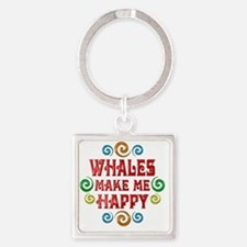 whale Square Keychain