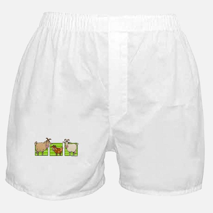 3 goats Boxer Shorts