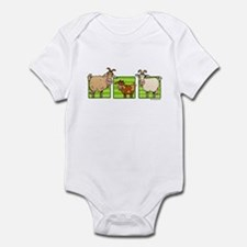 3 goats Infant Bodysuit