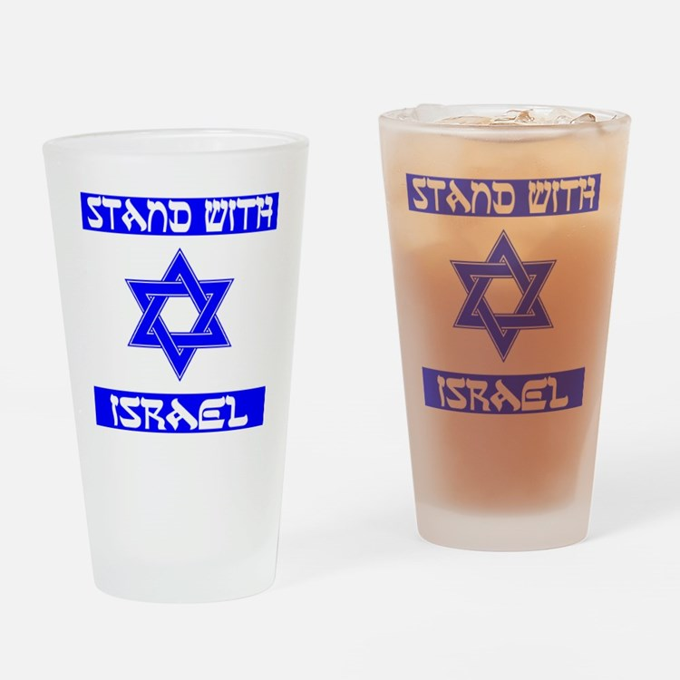 StandWithIsraelFlag Drinking Glass