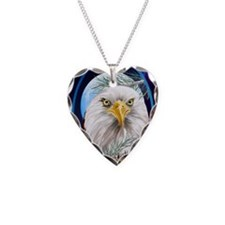 ornament_ovalEagle In The Pin Necklace Heart Charm