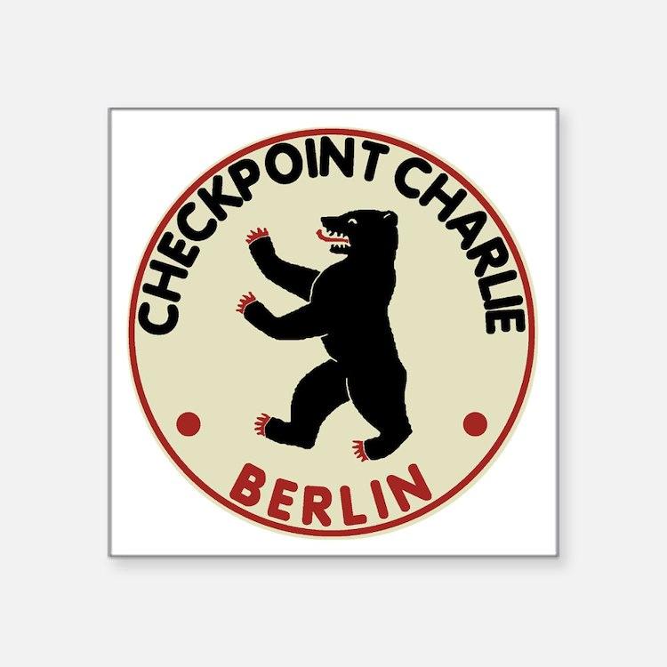 "checkpointcharliedark Square Sticker 3"" x 3"""