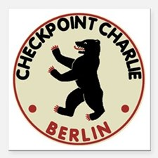 "checkpointcharliedark Square Car Magnet 3"" x 3"""