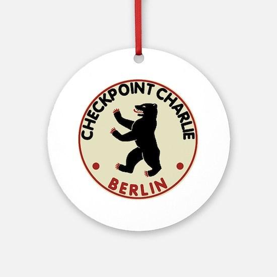 checkpointcharliedark Round Ornament