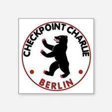 "checkpointcharliewhite Square Sticker 3"" x 3"""