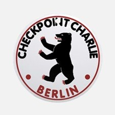 checkpointcharliewhite Round Ornament