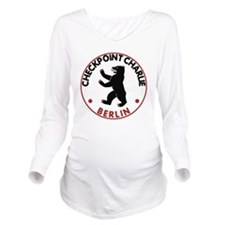 checkpointcharliewhi Long Sleeve Maternity T-Shirt