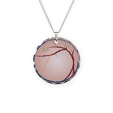 DAS Brown Deg Mousepad Necklace Circle Charm