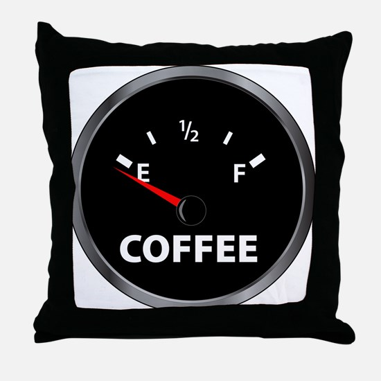 Out of Coffee Throw Pillow