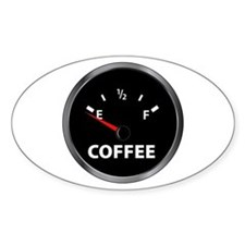 Out of Coffee Oval Decal