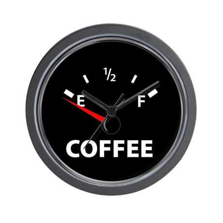 Out of Coffee Wall Clock