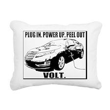 plugin_powerup_white Rectangular Canvas Pillow