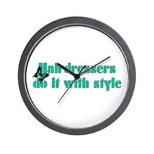 Hairdressers Do It With Style Wall Clock
