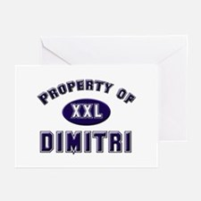 Property of dimitri Greeting Cards (Pk of 10)