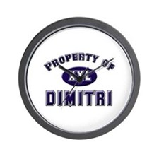 Property of dimitri Wall Clock