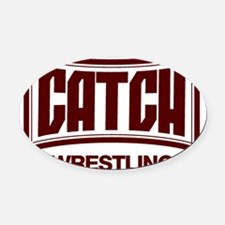 catch_impact.gif Oval Car Magnet