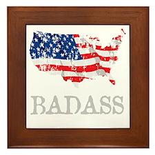 AmericanBadass_DrkShrt Framed Tile