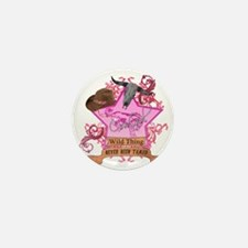 CowGirl Wild Thing never been tamed Pi Mini Button
