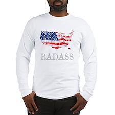 AmericanBadass_DrkShrt Long Sleeve T-Shirt