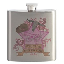CowGirl Wild Thing never been tamed Pink 2 L Flask
