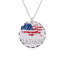 AmericanBadass_DrkShrt Necklace Circle Charm