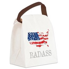 AmericanBadass_DrkShrt Canvas Lunch Bag