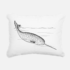 Narwhal_(PSF) Rectangular Canvas Pillow