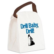 drillbabydrill wht btn Canvas Lunch Bag