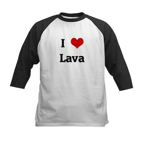 I Love Lava Kids Baseball Jersey