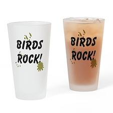 FIN-birds-rock-poopy Drinking Glass