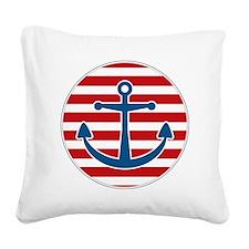 sailoranchor Square Canvas Pillow