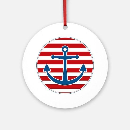 sailoranchor Round Ornament