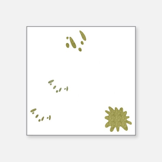 "FIN-birds-rock-poopy-WonB Square Sticker 3"" x 3"""