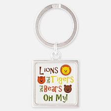 lionstigersbears Square Keychain