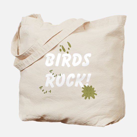 FIN-birds-rock-poopy-WonB Tote Bag