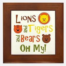 lionstigersbears Framed Tile