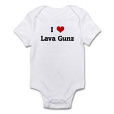 I Love Lava Gunz Infant Bodysuit