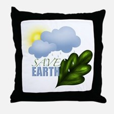 Save Earth Throw Pillow