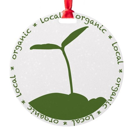 Local Organic Round Ornament