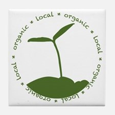 Local  Organic Tile Coaster