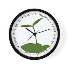 Local  Organic Wall Clock