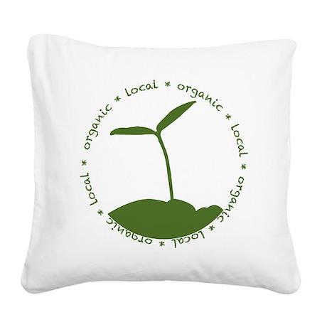 Local Organic Square Canvas Pillow