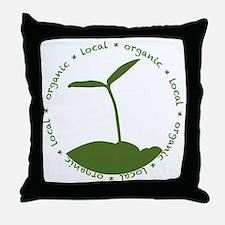 Local  Organic Throw Pillow