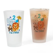baby2JungleAnimals Drinking Glass