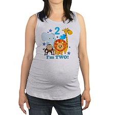 baby2JungleAnimals Maternity Tank Top