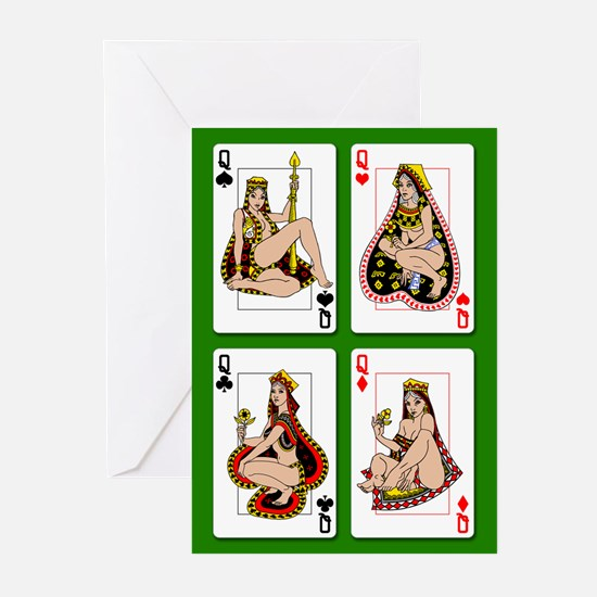 The Four Queens Greeting Cards (Pk of 10)