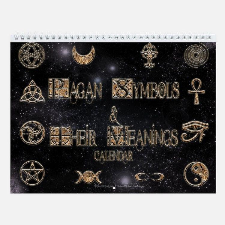 Pagan Symbols Wall Calendar